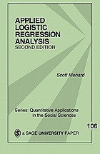Applied Logistic Regression Analysis cover image