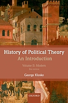 History of political theory. Volume 2, Modern