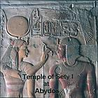 Temple of Sety I at Abydos