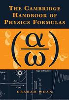 The Cambridge handbook of physics formulas