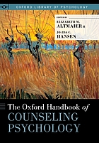 The Oxford handbook of counseling psychology