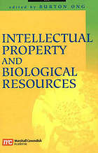 Intellectual property and biological resources