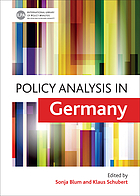 Policy analysis in Germany