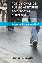 Policy change, public attitudes and social citizenship : does neoliberalism matter?