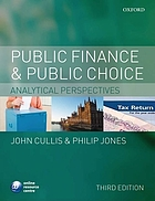 Public finance and public choice : analytical perspectives
