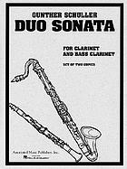 Duo sonata : for clarinet and bass clarinet