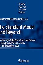 The standard model and beyond : proceedings of the 2nd International Summer School in High Energy Physics, Muğla, 25-30 September 2006
