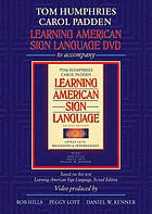 Learning American sign language DVD to accompany Learning  American  sign language, levels 1 & II -- beginning & intermediate