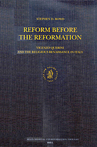 Reform before the Reformation : Vincenzo Querini and the religious Renaissance in Italy