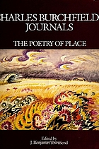 Charles Burchfield's journals : the poetry of place