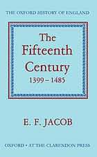 The fifteenth century, 1399-1485
