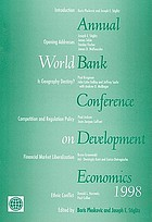Annual World Bank Conference on Development Economics, 1998