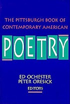 The Pittsburgh book of contemporary American poetry