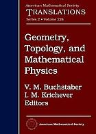 Geometry, topology, and mathematical physics : S.P. Novikov's seminar, 2006-2007