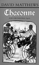 Chaconne for orchestra (1986-7)