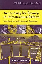 Accounting for poverty in infrastructure reform : learning from Latin America's experience