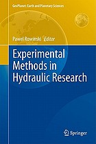 Experimental methods in hydraulic research