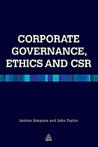Corporate governance, ethics, and CSR