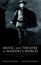 Music and theatre in Handel's world : the family papers of James Harris, 1732-1780