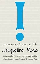 Conversations with Jacqueline Rose