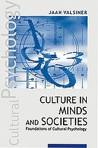Culture in minds and societies : foundations of cultural psychology