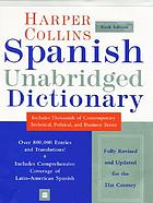 Collins Spanish dictionary = Collins diccionario Ingles