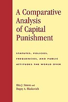 A Comparative Analysis of Capital Punishment: Statutes, Policies, Frequencies, and Public Attitudes the World Over cover image