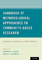 Handbook of methodological approaches to community-based research : qualitative, quantitative, and mixed methods