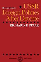 USSR foreign policies after detente
