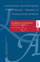 Translation as a social activity : community translation 2.0