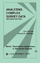Analyzing Complex Survey Data cover image