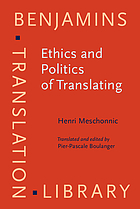 Ethics and politics of translating