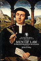 Men of law in pre-reformation Scotland
