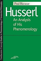 Husserl: an analysis of his phenomenology.
