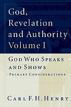 God, revelation, and authority