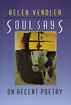Soul says : on recent poetry