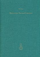 Manuscript, text and literature : collected essays on Middle and New Persian texts