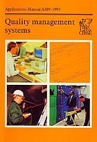 Quality management systems.