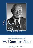 One voice : the selected sermons of W. Gunther Plaut