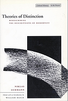 Theories of distinction : redescribing the descriptions of modernity
