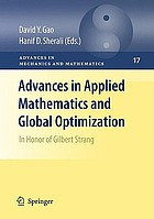 Advances in Applied Mathematics and Global Optimization : Vol. 3: In Honor of Gilbert Strang.