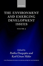 The Environment and Emerging Development Issues. Volume 2