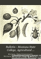 Bulletin - Montana State College, Agricultural Experiment Station.