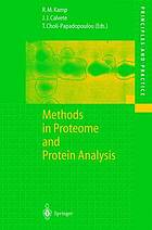 Methods in proteome and protein analysis