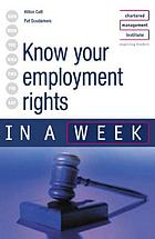 Know your employment rights in a week