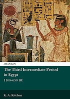The Third Intermediate Period in Egypt, 1100-650 B.C.
