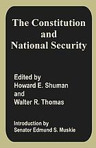 The Constitution and national security : a bicentennial view