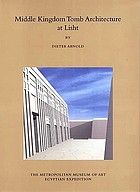 Middle Kingdom tomb architecture at Lisht cover image