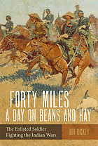 Forty miles a day on beans and hay; the enlisted soldier fighting the Indian wars.