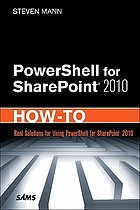 PowerShell for SharePoint 2010 : how-to